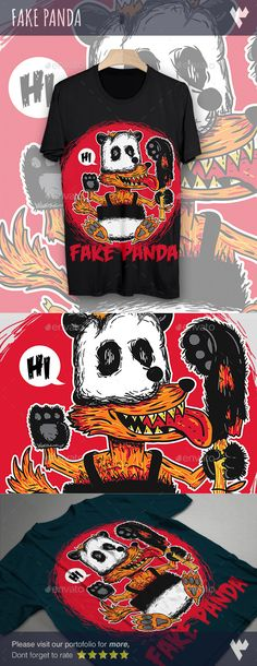 Fake Panda TShirt Design — Vector EPS #animal #wild • Available here → https://graphicriver.net/item/fake-panda-tshirt-design/17685306?ref=pxcr