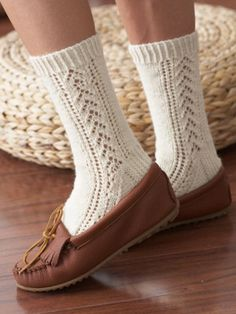 Buy Yarn Online and Find Crochet and Knitting Supplies and Patterns Lace Socks, Crochet Socks, Knitted Slippers, My Socks, Knit Crochet, Knit Socks, Slipper Socks, Lace Knitting, Knitting Socks