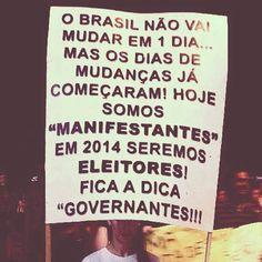 ...fica a dica, governantes! #vemprarua