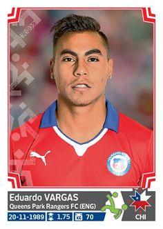 042 Eduardo Vargas - Chile - Copa America Chile 2015 - PANINI