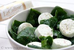 Salata de spanc cu branza de capra Appetizer Recipes, Salad Recipes, Appetizers, Romanian Food, Pinterest Recipes, Palak Paneer, Feta, Spinach, Cheese