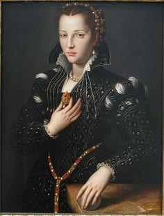 Lucrezia de' Medici February 1545 – 21 April was the daughter of Cosimo I de' Medici, Grand Duke of Tuscany, and Eleanor of Toledo. Portrait of Lucrezia (di Cosimo) de' Medici attributed to Agnolo Bronzino.