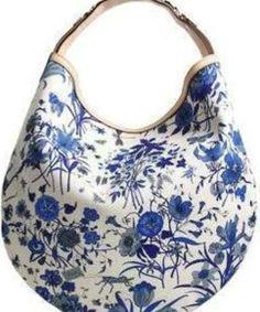Tom Ford for Gucci Blue And White Shoulder Bag