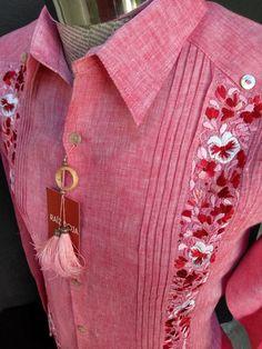 Indian Men Fashion, Pakistani Fashion Casual, Mexican Fashion, Chemises Country, Mens Fashion Quotes, Chemise Fashion, Guayabera Shirt, Mexican Shirts, Mens Designer Shirts