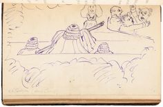"""Original drawing by Lewis Carroll in illustration of """"The Hunting of the Snark,"""" and an autograph letter from him to the book's illustrator critiquing his designs - bound into a copy of the book - Price Estimate: $30000 - $50000 [sold for $24000]"""