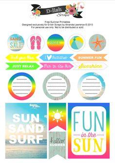 Planner & Journaling Printables ❤ Free Summer Printables