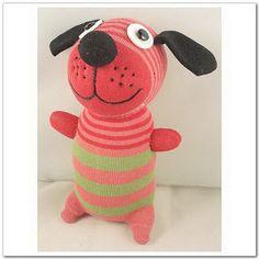 Inspiration - Handmade Sock Dog Stuffed Animal Doll Baby by supersockmonkeys