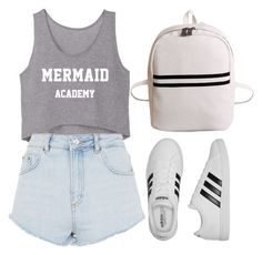 """""""Sem título #41"""" by mariaju25 ❤ liked on Polyvore featuring Topshop and adidas"""