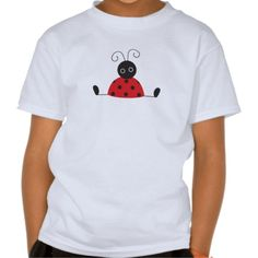 Cute and whimsical - Sitting Ladybug T-shirt for kids and adults