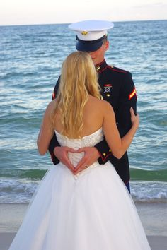 Marine Corps wedding, Wedding photography, Beach wedding