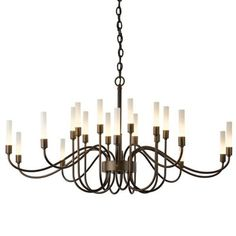 """Lisse 20-Light Chandelier by Hubbardton Forge at Lumens.com,43""""W"""