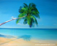 """""""Serenity""""  - Painting, Wisdom, Passion, Compassion, Thought, Enlightenment, Evening, Night, Dream, Cosmos, Vision, Divine, Gift, Tear, Dew, Strong, Strength, Sad, Sweet, Sun, Palm Tree, Island, Heaven, Paradise, Hawaii, Tahiti, cook islands, Polynesia, Fiji, Caribbean, Luxury, Travel, Exotic"""