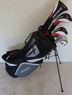 "NEW Mens Left Handed Complete Golf Set Custom Made Clubs for Tall Men 6'0"" to 6' 6"" Tall Driver, Fairway Wood, Hybrids, Irons, Putter, Stand Bag"