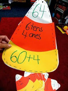 Candy Corn Standard Notation, Place Value & Expanded Notation Activity (from First Grade Wow)