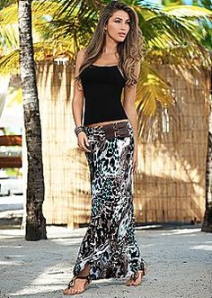 Maxi Skirts - Prints, Lace, Ruched Waist & Color Block Styles