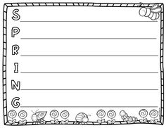 FREEBIE! Have your students create a spring acrostic poem  with this free template!