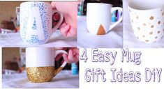 4 Easy Mug Gift Ideas - DiY - YouTube