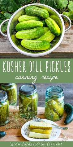 These kosher dill pickles are so delicious and a perfect canning recipe for beginners. Can your own homemade dill pickles with garden fresh ingredients! This recipe makes 4 pint jars. Canning Dill Pickles, Kosher Pickles, Kosher Dill Pickle Canning Recipe, Low Sodium Pickles Recipe, Dill Pickling Spice Recipe, Refrigerator Kosher Dill Pickles Recipe, Pasta Sauce Canning Recipe, Best Dill Pickle Recipe, Home Canning Recipes