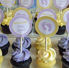 Personalized Lavender and Yellow Baby Shower by ThatPartyChick, $8.00