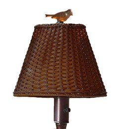 Waterproof Outdoor Wicker Floor Lamp, 16&frac34