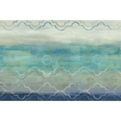 Abstract Waves Blue-Gray Landscape Canvas Art - Cynthia Coulter (12 x 18)