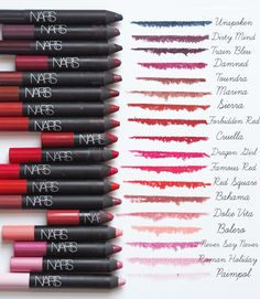 The NARS Velvet Matte Lip pencil Ultimate Guide : Info #lipcolorsguide