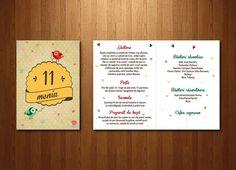 Meniul din setul cu puiuți, al cărei invitație o poți găsi în linkul de mai jos: http://www.pinterest.com/pin/349169777333001593/