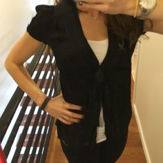 Black blouse. Black blouse with tie in front. Studio M Tops Blouses