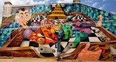 """Obie Platon New Stunning """"Pinball Machine"""" Mural in Bucharest (Romania)"""