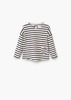 Pocket cotton t-shirt -  Kids | MANGO Kids United Kingdom