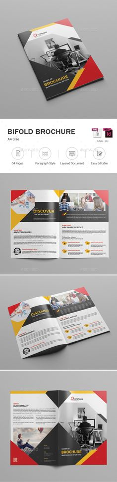 #Bifold Brochure - Corporate #Brochures Download here:   https://graphicriver.net/item/bifold-brochure/19334026?ref=suz_562geid