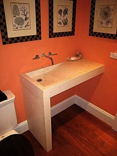 The Original Award winning Swell Basin - designed and fabricated by Concrete Works Bermuda in Concrete Sink. Concrete Sink, Concrete Bathroom, Home Interior Design, Basin, Vanity, The Originals, Wood, Projects, Plaster