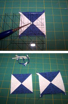 quarter triangle squares 3