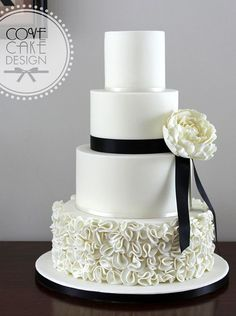 Featured Cake: Cove Cake Design; Wedding cake idea.