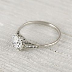 gorgeous engagement ring- love how simple yet elegant.  This is my fav so far