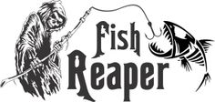 Fish Grim Reaper Skeleton Fishing Rod Pole Boat by decalstickers, $8.99