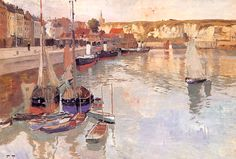 Fritz Thaulow (1847-1906). Dieppe. Oil on Canvas.