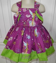 Disney Tinkerbell Purple Boutique Dress Size 2T by threegenjewelry,   She loves purple!! :)
