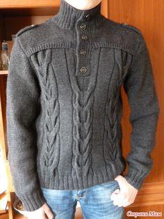Здравствуйте девочки! Вот связала на зиму сыну пуловерчик. Он у меня не носит изделия ручной работы, предпочитает фирменное из магазина.