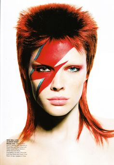 David Bowie editorial, Vogue Australia May 2003     / Space Oddity inspired fashion