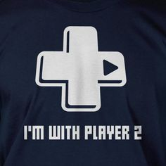 I'm With Player 2 Gamer Tshirt Screen Printed by IceCreamTees, $14.99