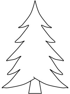 Pine Trees coloring pages. Welcome to PINE TREE coloring pages! Enjoy coloring the Pine tree coloring page. Pine Tree coloring page that yo. Christmas Tree Outline, Christmas Tree Stencil, Christmas Tree Printable, Christmas Tree Coloring Page, Christmas Tree Template, Christmas Tree Pattern, Colorful Christmas Tree, Christmas Colors, Christmas Art