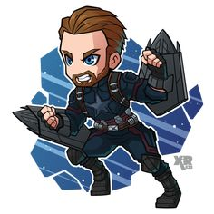 Marvel Drawing FA Captain America by - Marvel Avengers, Chibi Marvel, Avengers Cartoon, Marvel Cartoons, Marvel Art, Marvel Dc Comics, Marvel Heroes, Steve Rogers, Marvel Drawings