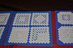 Hardanger embroidery samplers