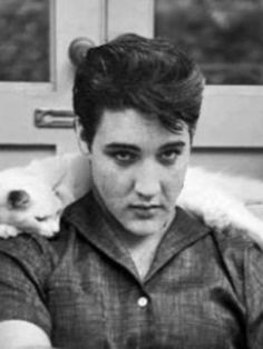 Elvis and a furry friend