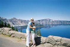 Taylor and her parents visited Crater Lake National Park in #Oregon, home to one of the world's most beautiful lakes.