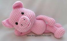 Tutorial Amigurumi Cerdito : Patrón gratuito cerdito piesgrandes amigurumi crochet and