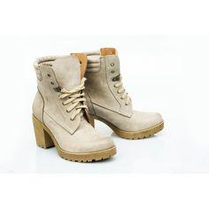 Dámské kožené boty v odstínu cappuccino - manozo.cz 5898d11704