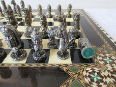 Stunning Vintage Chess Set Antique Theme by TresorsDesPyrenees