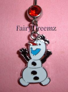 OLAF the Snowman From Frozen Disney Belly Navel by FairyDreemz, $7.00